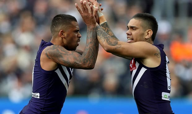 Bradley Hill and Michael Walters have been named in the AFL Players' top 50.