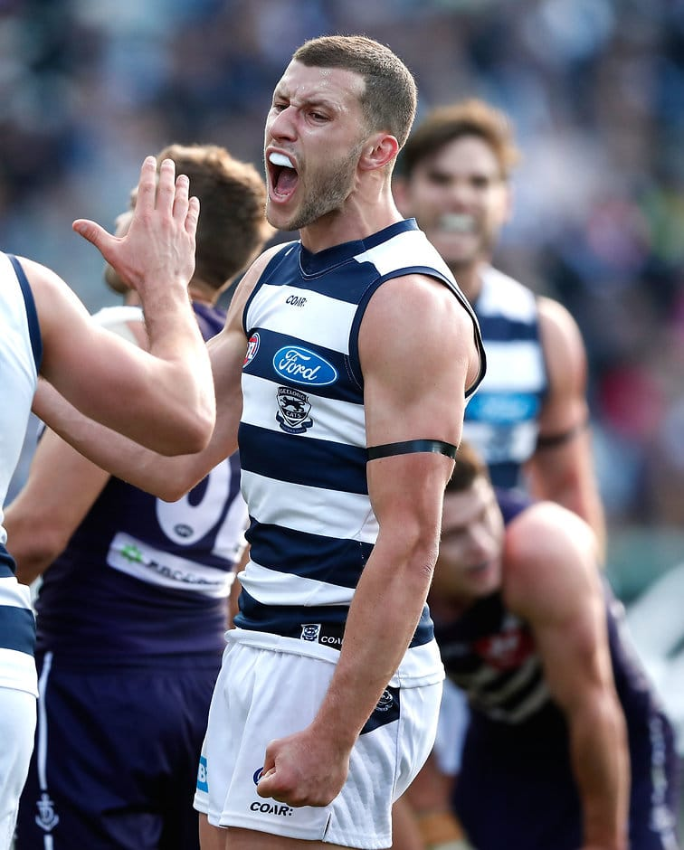Sam Menegola is ranked the third best midfielder/forward in the AFL - Geelong Cats