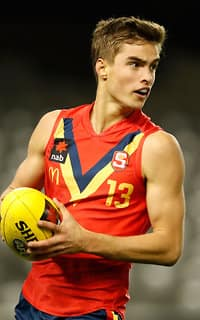 MELBOURNE, AUSTRALIA - JUNE 30: Jackson Edwards of South Australia in action during the 2017 AFL Under 18 Championships match between Vic Metro and South Australia at Etihad Stadium on June 30, 2017 in Melbourne, Australia. (Photo by Adam Trafford/AFL Media)