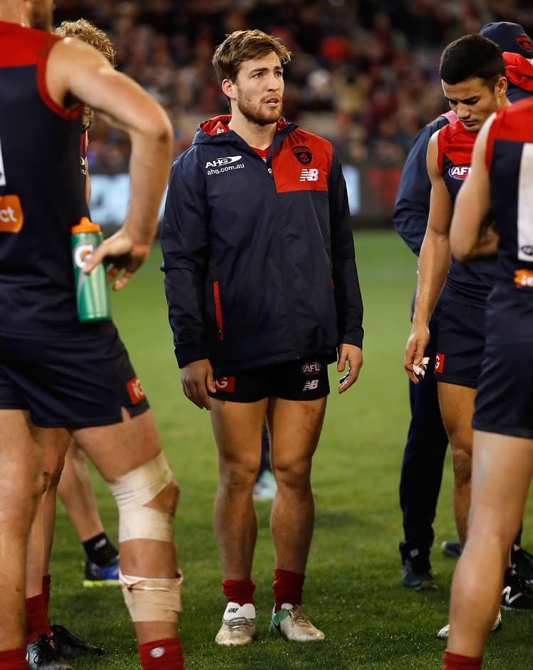 MELBOURNE, AUSTRALIA - JUNE 30: Jack Viney of the Demons looks on during the 2017 AFL round 15 match between the Melbourne Demons and the Sydney Swans at the Melbourne Cricket Ground on June 30, 2017 in Melbourne, Australia. (Photo by Michael Willson/AFL Media)