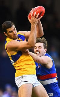 Jack Darling takes a strong mark