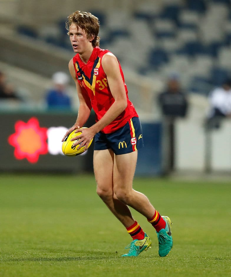Jack Lukosius from SA is one of the early favourites for the No.1 selection. - AFL Academy,Draft