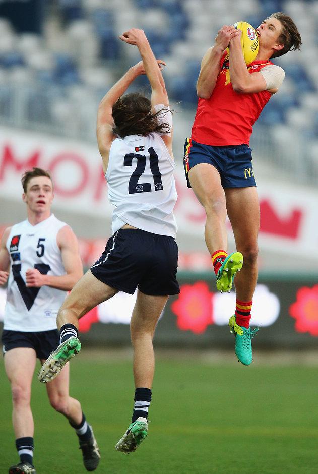 High-flying Jordan Houlahan will don the red and black next year - AFL,Essendon Bombers,Draft,Jordan Houlahan,Brandon Zerk-Thatcher,Matt Guelfi