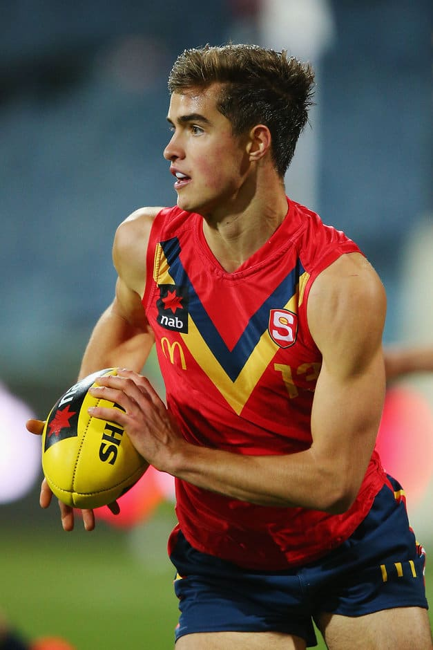 Jackson Edwards in action for South Australia - AFL,Port Adelaide Magpies,Adelaide Crows,Draft,Jackson Edwards