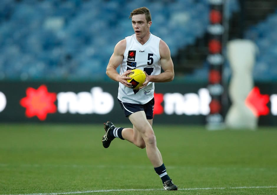 GEELONG, AUSTRALIA - JULY 05: Ben Paton of Vic Country in action during the 2017 AFL Under 18 Championships match between Vic Country and South Australia at Simonds Stadium on July 05, 2017 in Geelong, Australia. (Photo by Michael Willson/AFL Media)