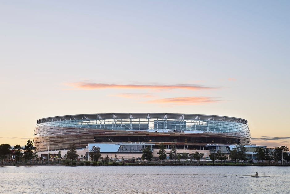 PERTH, AUSTRALIA - JULY 11: General views of the new Perth Stadium  on July 11, 2017 in Perth, Australia. (Photo by Daniel Carson/AFL Media)