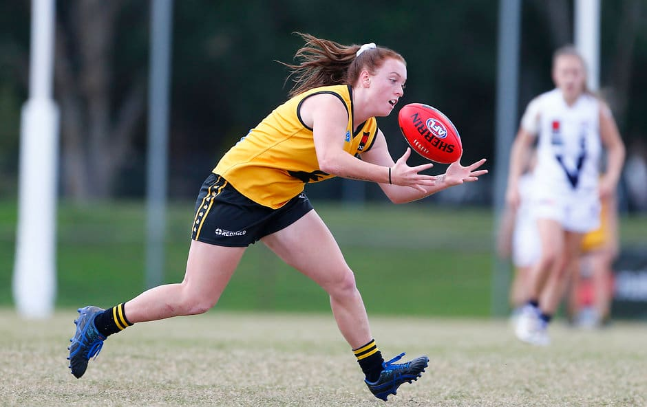 Sabreena Duffy is one of three WA players heading to the NAB AFL Women's Draft Combine in Melbourne in October. - Fremantle,Fremantle Dockers,AFLW