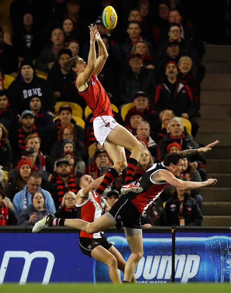 Joe Daniher's sky-scraping mark against St Kilda was voted the year's best - AFL,Joe Daniher,Jeremy Howe