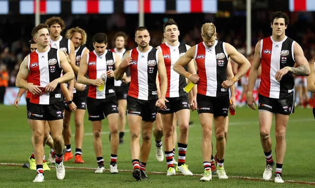 St Kilda has fallen out of the top eight after Friday night's loss to Essendon at Etihad Stadium.