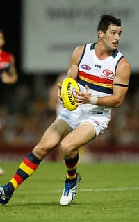 DARWIN, AUSTRALIA - JULY 15: Taylor Walker of the Crows in action during the 2017 AFL round 17 match between the Melbourne Demons and the Adelaide Crows at TIO Stadium on July 15, 2017 in Darwin, Australia. (Photo by Michael Willson/AFL Media)