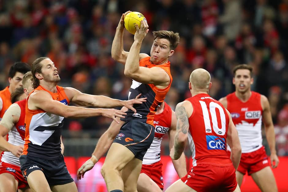 Toby Greene says he has made some changes to his marking technique - AFL,GWS Giants,Toby Greene