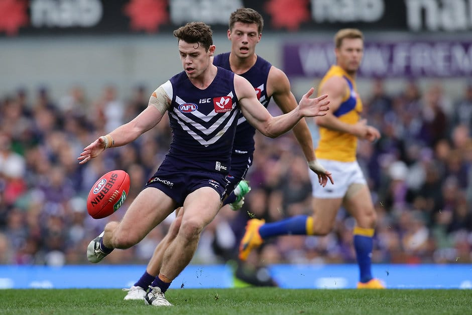 The first Western Derby at Optus Stadium is on track to set a crowd record for an AFL game in Perth. - Fremantle,Fremantle Dockers