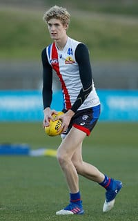 MELBOURNE, AUSTRALIA - JULY 18: Tim English of the Bulldogs in action during the Western Bulldogs training session at Whitten Oval on July 18, 2017 in Melbourne, Australia. (Photo by Michael Willson/AFL Media)