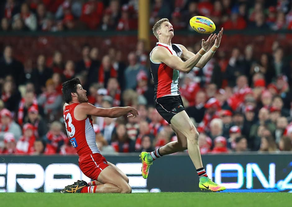 Swan Lewis Melican kept Saints champion Nick Riewoldt to just 10 disposals - ${keywords}