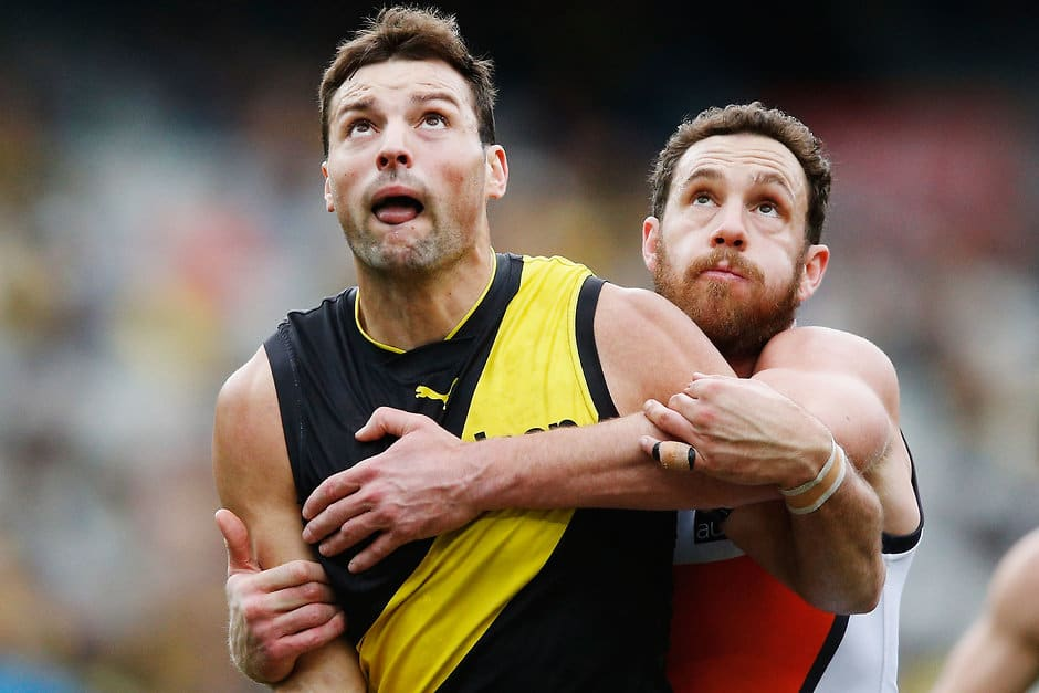 Toby Nankervis is expected to face the returning Shane Mumford - AFL,Richmond Tigers,GWS Giants