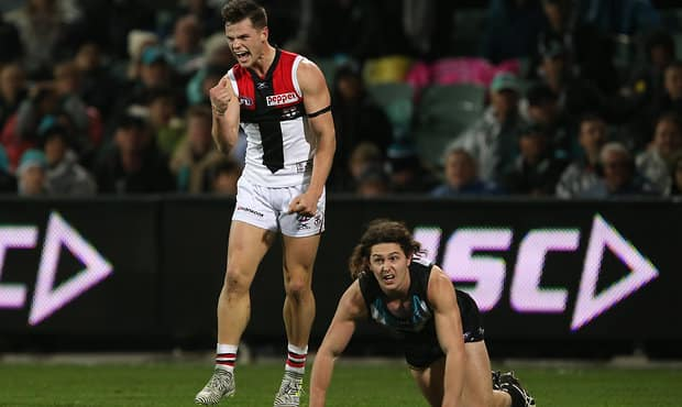 St Kilda midfielder Jack Sinclair produced a breakout season in 2017, playing the final 17 games of the year.