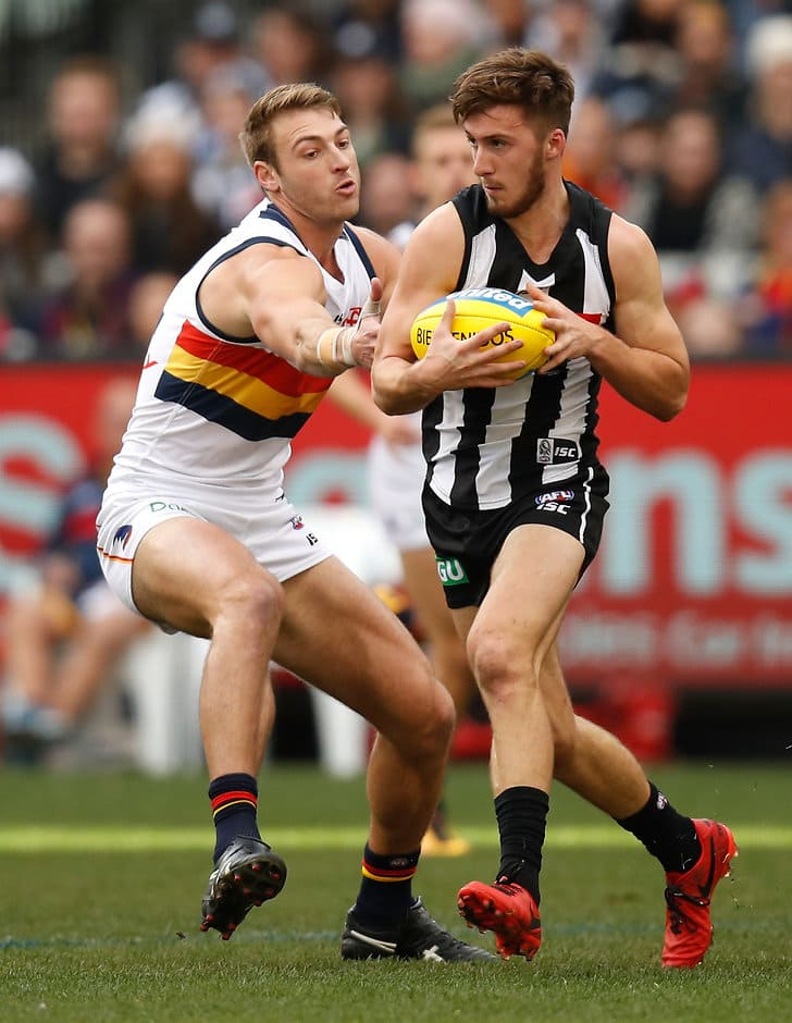 Daniel Talia (left) will play his 150th game on Friday against the Magpies - AFL,Adelaide Crows,Collingwood Magpies,Adelaide Oval