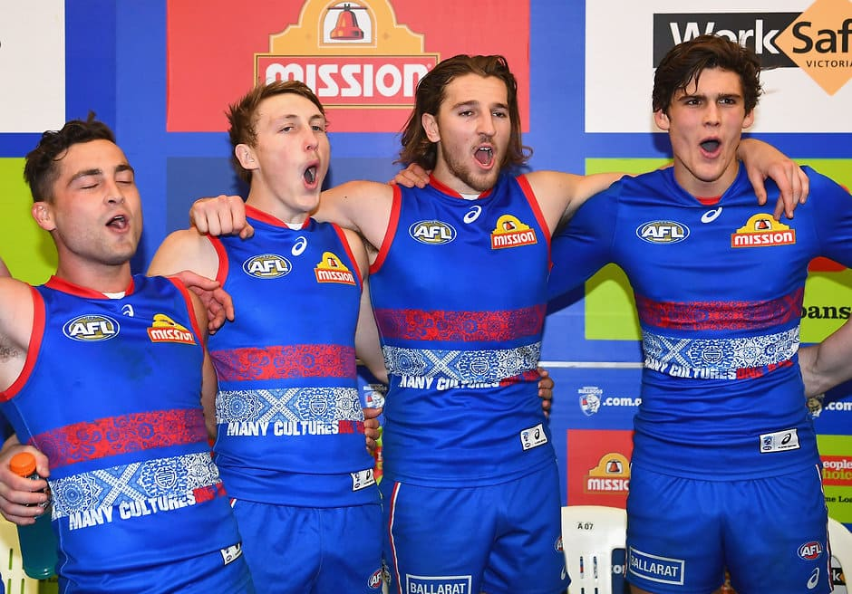 Western Bulldogs will go into the 2018 season with the fifth youngest list in the competition. (Photo: AFL Media) - Western Bulldogs