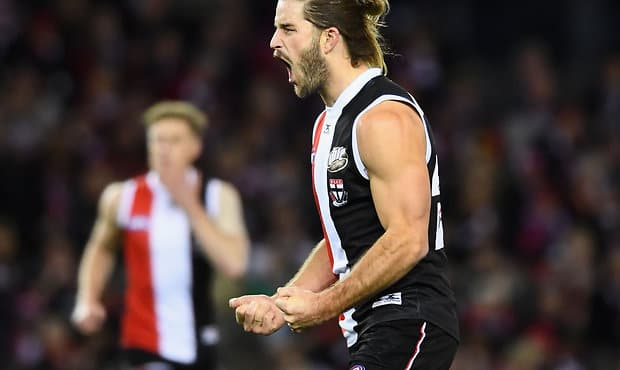 St Kilda key forward Josh Bruce is back in the team for the clash against Melbourne at Casey Fields.