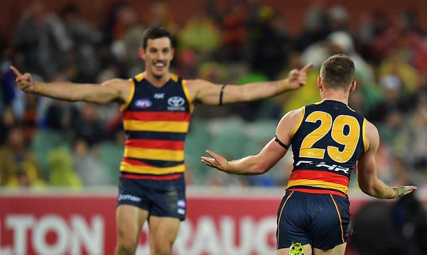 Taylor Walker and Rory Laird were among Adelaide's statistical leaders in Season 2017 - Adelaide Crows