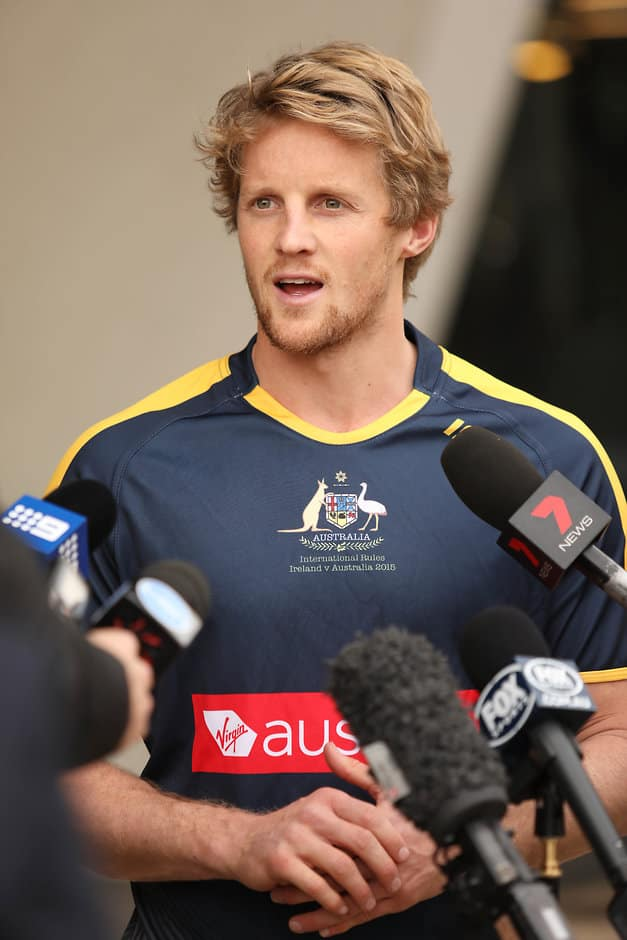 Rory Sloane is one of nine debutants in the IRS squad - AFL,International Rules