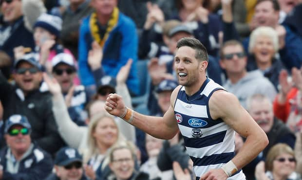 Harry Taylor will make his return via the VFL this Saturday - Geelong Cats