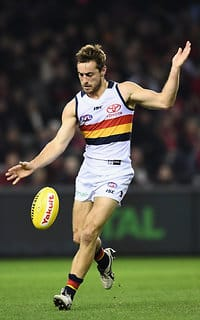 Richard Douglas kicked two goals in the win over Essendon