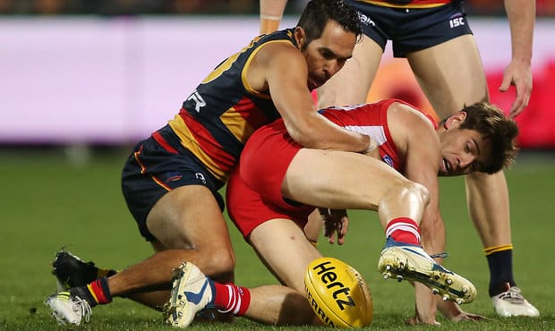 The Crows went down by three points to Sydney in an enthralling contest at Adelaide Oval on Friday night