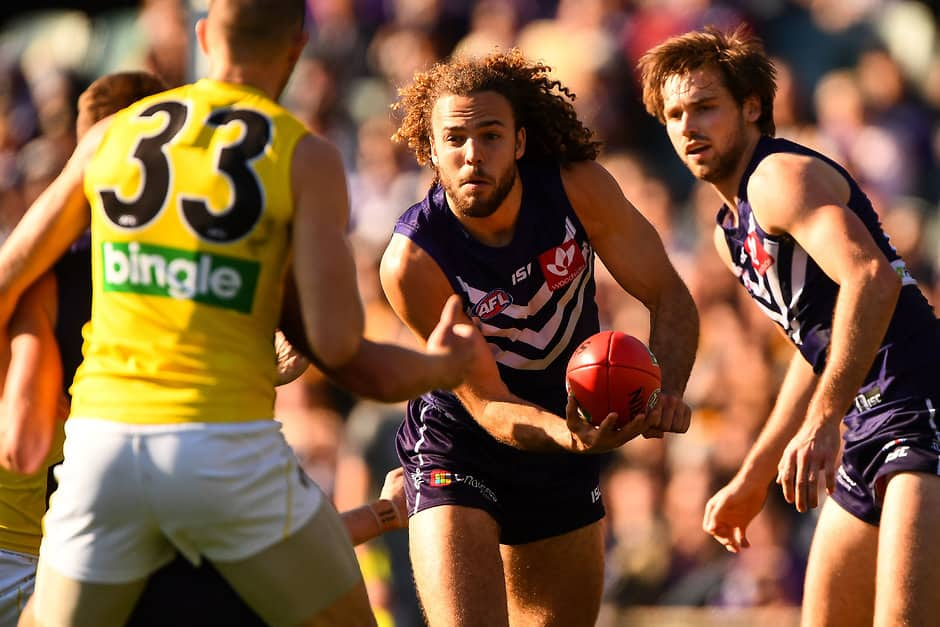 Griffin Logue is eager to add to his 13 games for Fremantle - AFL,Fremantle Dockers,Griffin Logue