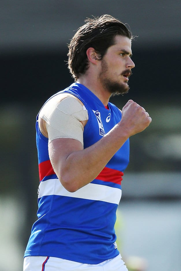 Tom Boyd boots five goals in Footscray's win over Coburg at VU Whitten Oval on Saturday. (Photo: AFL Media) - VFL