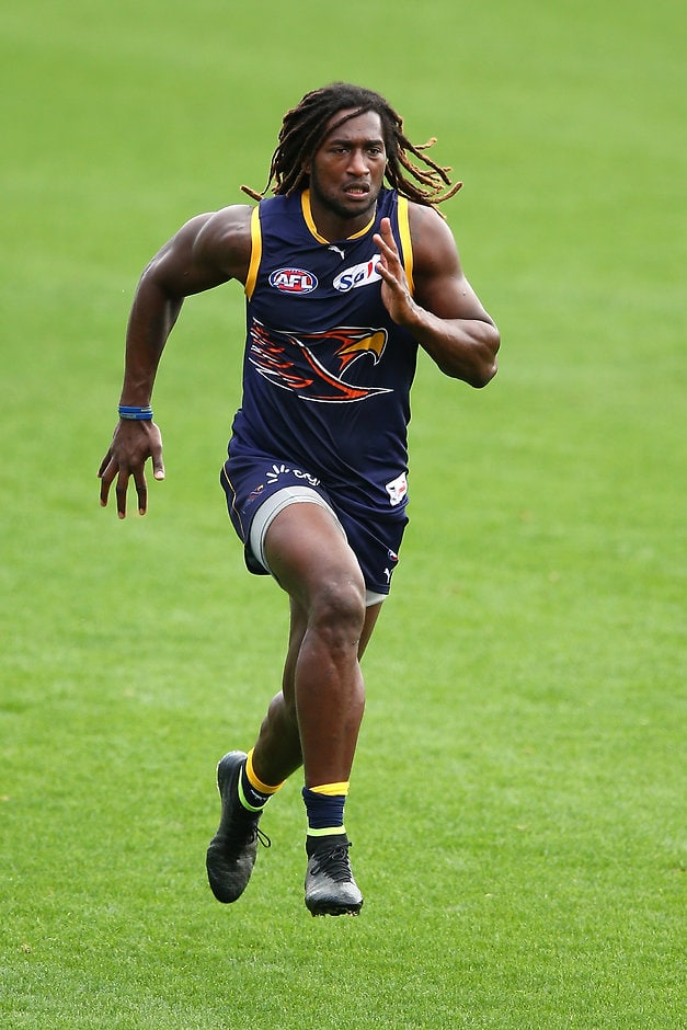 Eagles star Nic Naitanui at training on Monday - AFL,West Coast Eagles,Nic Naitanui