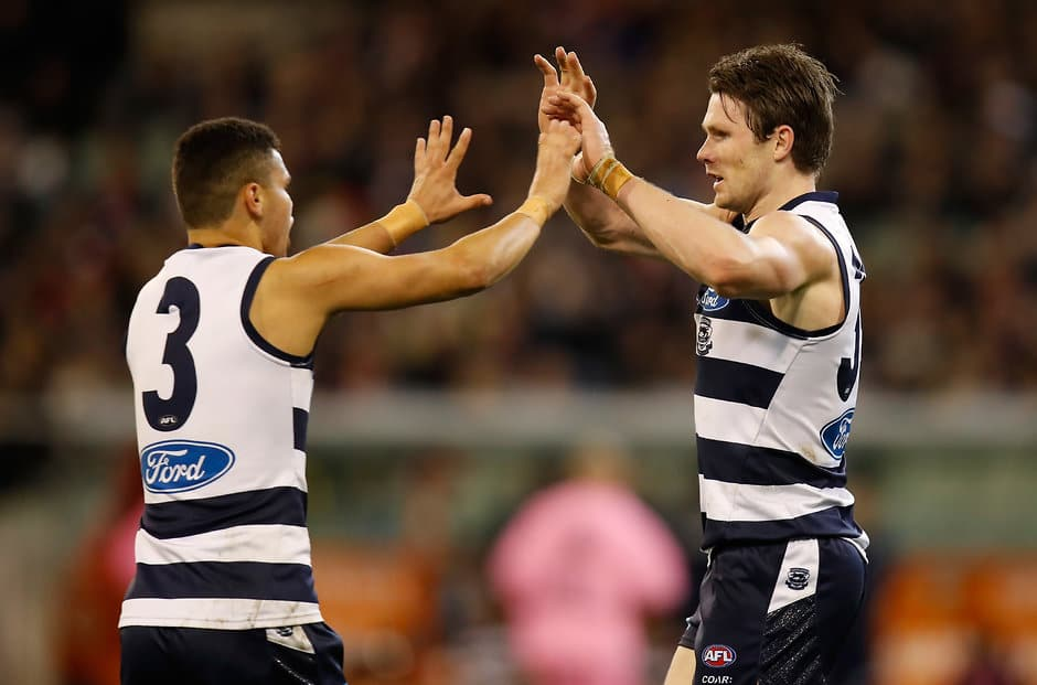 Knights says younger teammates such as Brandan Parfitt are learning plenty from the star trio - Geelong Cats