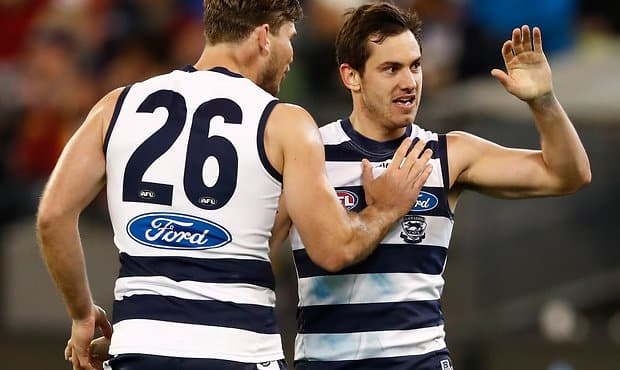 Tom Hawkins and Daniel Menzel averaged the most goals per game for the Cats in 2017 - Geelong Cats
