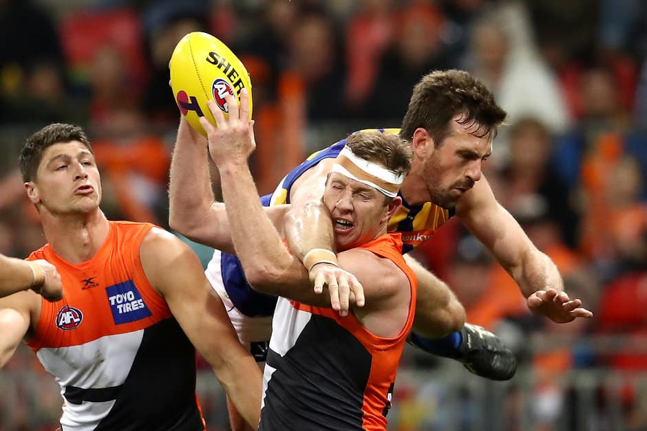 Steve Johnson kicked six goals against the Eagles - AFL,GWS Giants,Adelaide Crows,Richmond Tigers,Geelong Cats