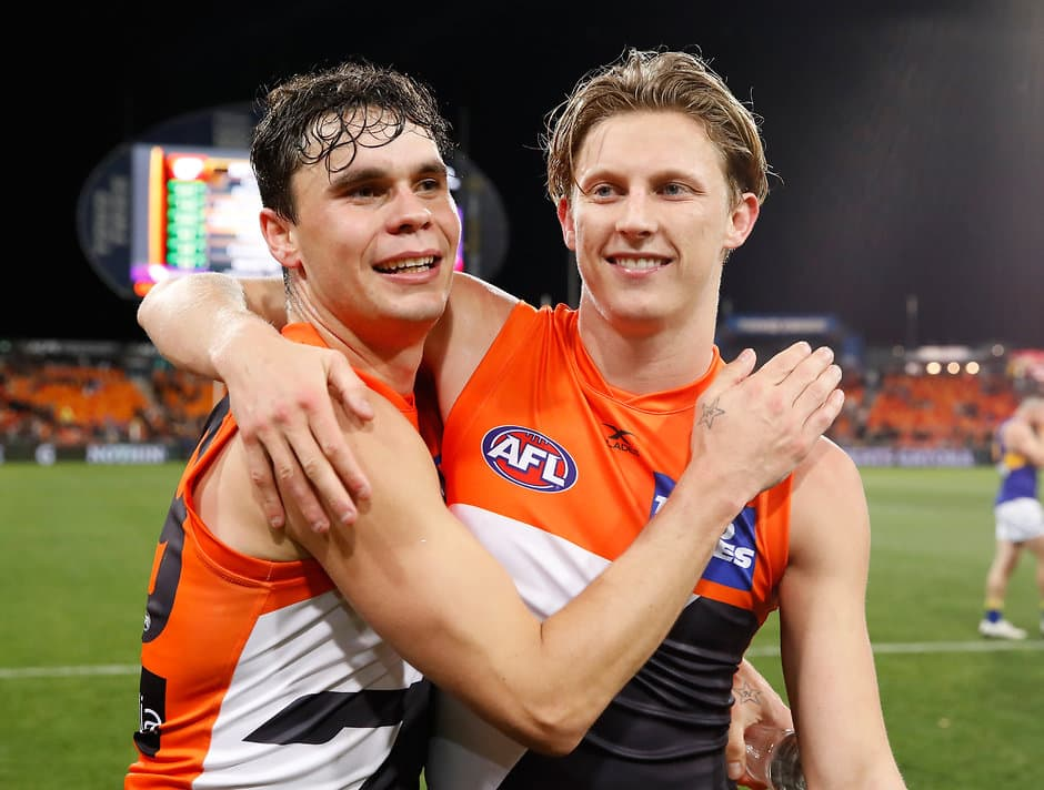Giants Zac Williams (left) and Lachie Whitfield - AFL,GWS Giants,Zac Williams,Lachie Whitfield