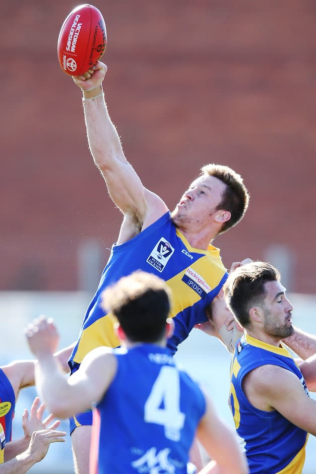 Williamstown's Nick Meese in action during preliminary final against Port Melbourne - AFL,VFL