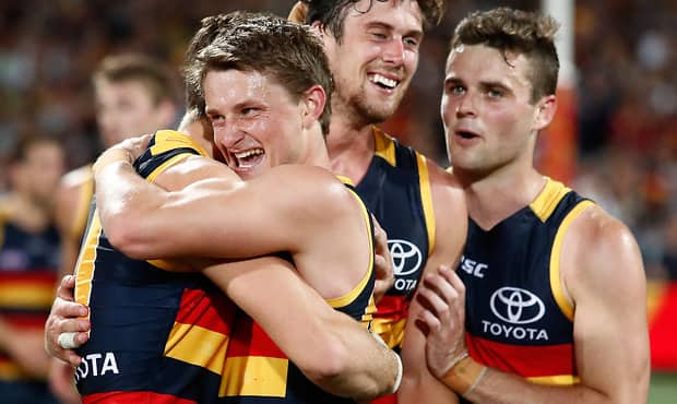 Matt Crouch is looking forward to many more celebrations alongside his Adelaide teammates