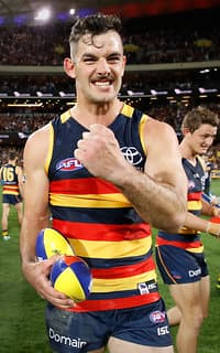 Taylor Walker will lead the Crows to their first grand final this century