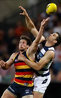 Harry Taylor in his normal defensive role - Geelong Cats,Harry Taylor