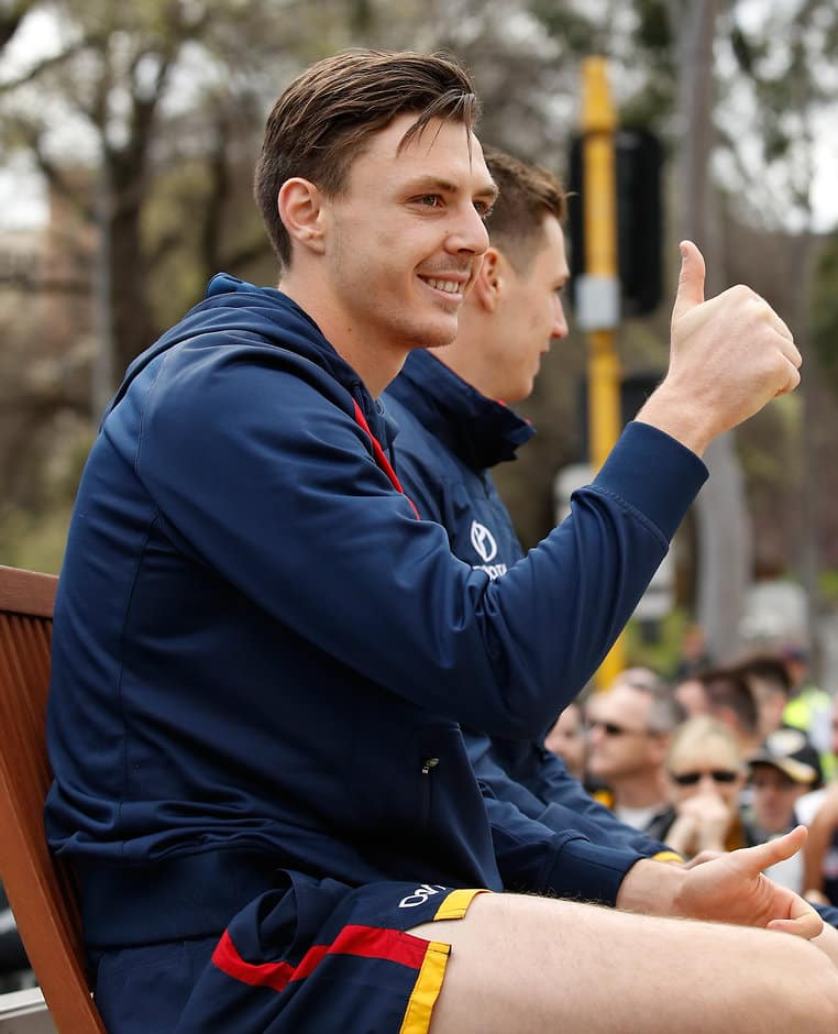 Thumbs up: Jake Lever is officially a Demon - AFL,Trade,Melbourne Demons,Adelaide Crows,Jake Lever