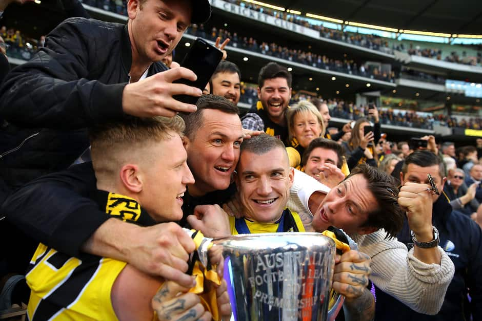 Josh Caddy and Dustin Martin missed out on more celebrations on Saturday - AFL,Richmond Tigers,Dustin Martin,Josh Caddy