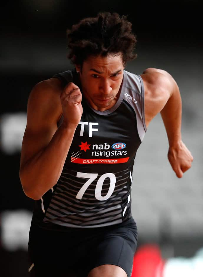 Aiden Bonar in action during day two of the Combine - AFL,Draft,Draft Combine,Aidan Bonar