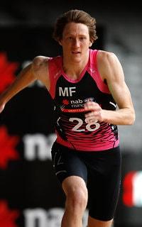 MELBOURNE, AUSTRALIA - OCTOBER 05: Nathan Murphy runs sprints during the AFL Draft Combine at Etihad Stadium on October 5, 2017 in Melbourne, Australia. (Photo by Adam Trafford/AFL Media) - Western Bulldogs
