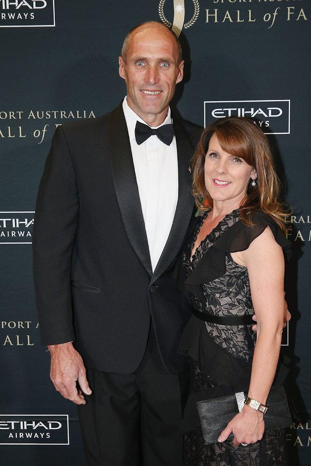 Tony Lockett and wife Vicki at the Sports Australia Hall of Fame - AFL