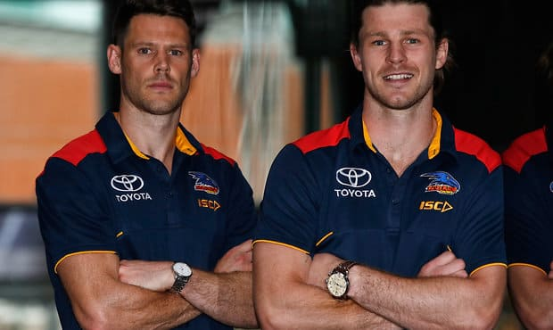 New Crows Sam Gibson and Bryce Gibbs - Adelaide Crows