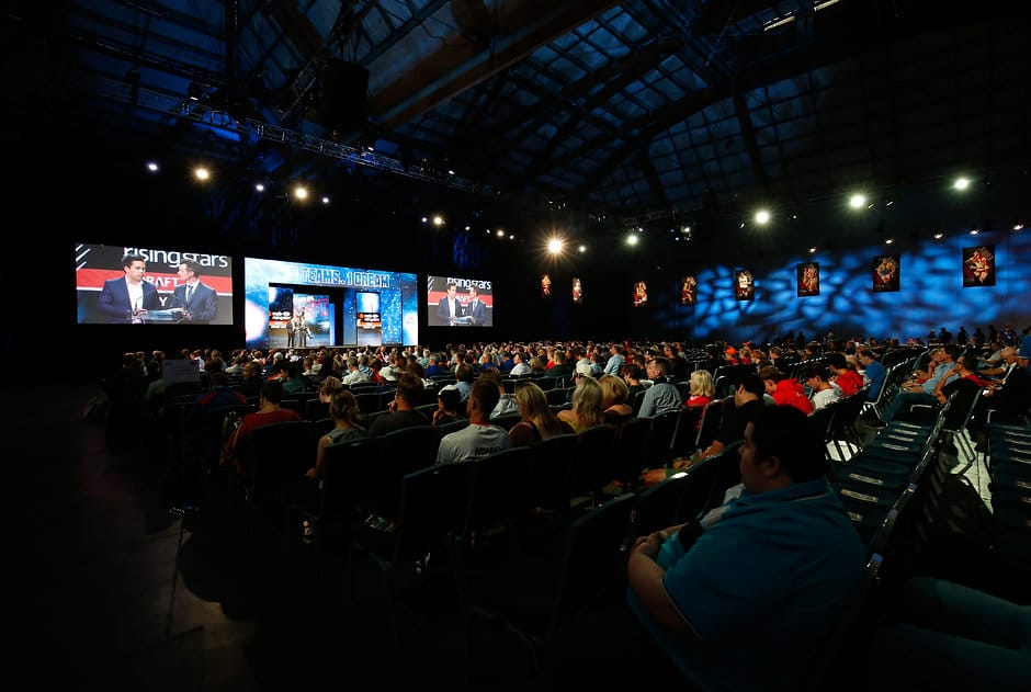 SYDNEY, AUSTRALIA - NOVEMBER 24: A general view during the 2017 NAB AFL Draft at Sydney Showground on 24 November, 2017 in Sydney, Australia. (Photo by Adam Trafford/AFL Media) (Editors note: This image is free for editorial use only)