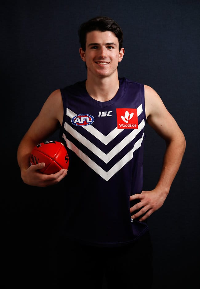 New Docker Andrew Brayshaw has the endurance, skillset and hardness to be able to play from round one next year - AFL,Draft,Jack Higgins,Andrew Brayshaw,Paddy Dow,Aaron Naughton,Tim Kelly,Hunter Clark,James Worpel,Luke Davies-Uniacke