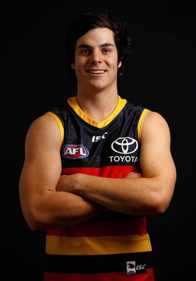 SYDNEY, AUSTRALIA - NOVEMBER 24: Darcy Fogarty of the Crows poses for a photo during the 2017 NAB AFL Draft at Sydney Showground on 24 November, 2017 in Sydney, Australia. (Photo by Adam Trafford/AFL Media) (Editors note: This image is free for editorial use only)