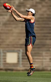 ADELAIDE, AUSTRALIA - DECEMBER 6: Matthew Signorello of the Crows in action during the Adelaide Crows training session at Football Park on December 6, 2017 in Adelaide, Australia. (Photo by Michael Willson/AFL Media)