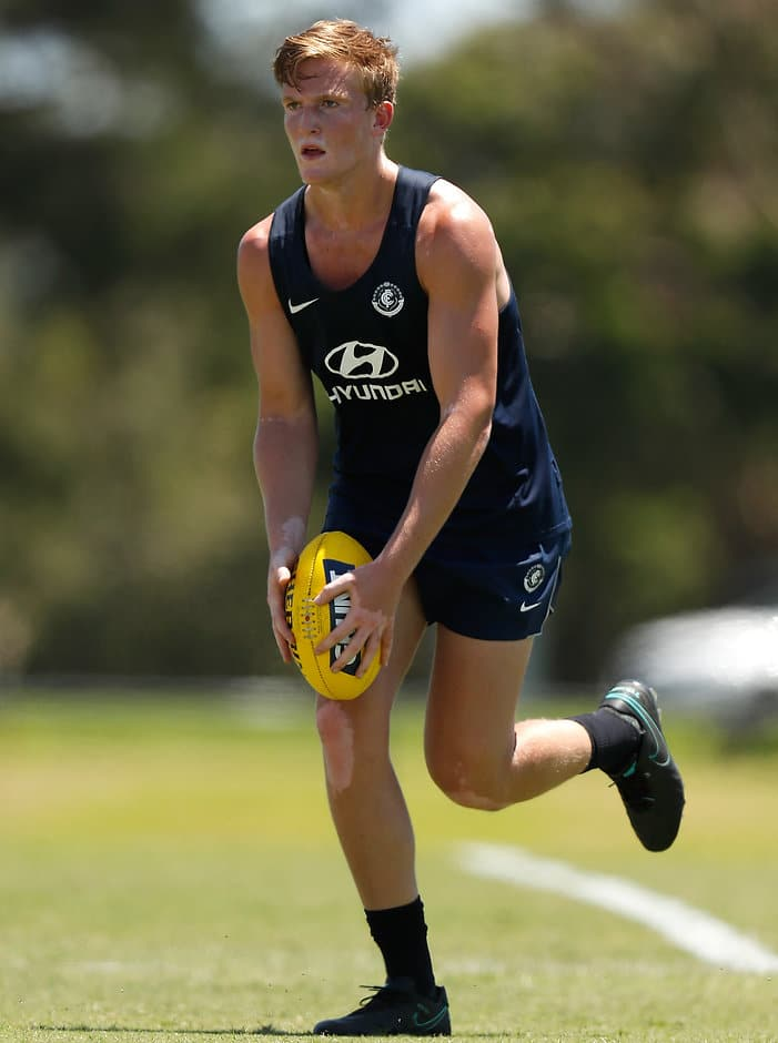 Pat Kerr will make his debut for the Blues - AFL,Carlton Blues,Charlie Curnow,Pat Kerr,Brendon Bolton